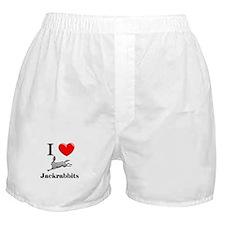 I Love Jackrabbits Boxer Shorts