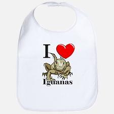 I Love Iguanas Bib