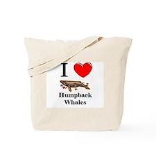 I Love Humpback Whales Tote Bag