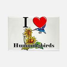 I Love Hummingbirds Rectangle Magnet