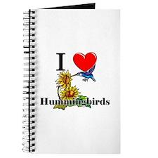 I Love Hummingbirds Journal