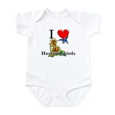 I Love Hummingbirds Onesie