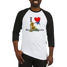 I Love Hummingbirds Baseball Jersey