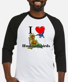 I Love Hummingbirds Baseball Jersey