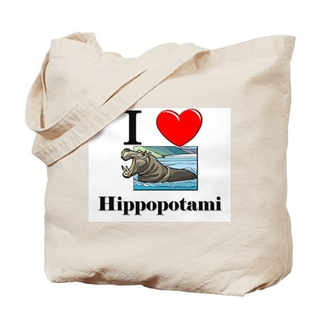 I Love Hippopotami Tote Bag