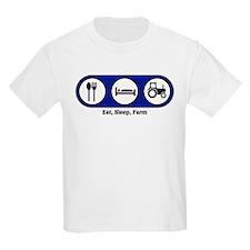 Eat, Sleep, Farm Kids T-Shirt