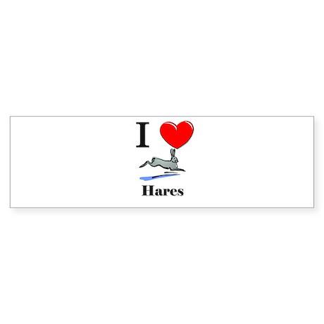 I Love Hares Bumper Sticker