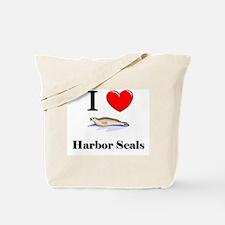 I Love Harbor Seals Tote Bag