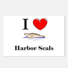 I Love Harbor Seals Postcards (Package of 8)
