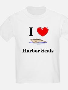 I Love Harbor Seals T-Shirt