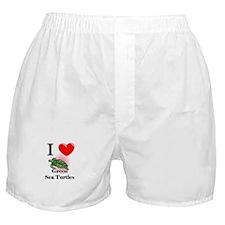 I Love Green Sea Turtles Boxer Shorts