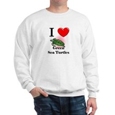 I Love Green Sea Turtles Sweatshirt