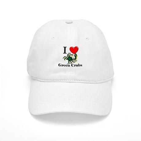 I Love Green Crabs Cap