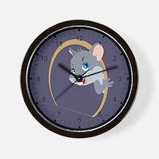 Peekaboo Mouse Wall Clock