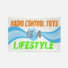 Radio control toys is a lifes Rectangle Magnet