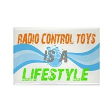 Radio control toys is a lifes Rectangle Magnet (10