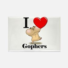 I Love Gophers Rectangle Magnet