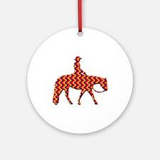 Western pleasure zig zag Ornament (Round)