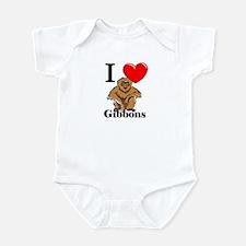 I Love Gibbons Infant Bodysuit