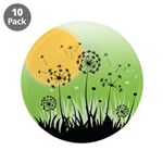 "Fields of Dandelion Art 3.5"" Button (10 pack)"