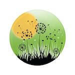 """Fields of Dandelion Art 3.5"""" Button"""