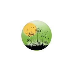 Fields of Dandelion Art Mini Button