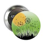 """Fields of Dandelion Art 2.25"""" Button"""