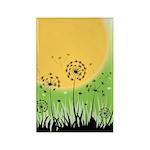 Fields of Dandelion Art Rectangle Magnet (10 pack)