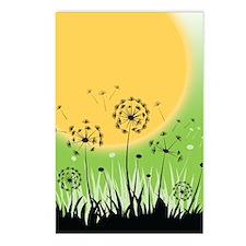 Fields of Dandelion Art Postcards (Package of 8)