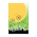 Fields of Dandelion Art Mini Poster Print