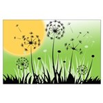 Fields of Dandelion Art Large Poster