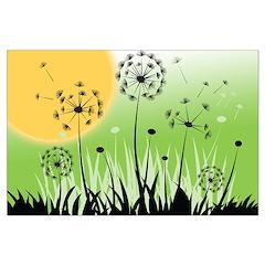 Fields of Dandelion Art Posters