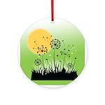 Fields of Dandelion Art Ornament (Round)