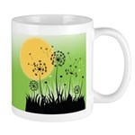 Fields of Dandelion Art Ceramic Coffee Mug