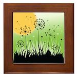 Fields of Dandelion Art Framed Tile