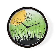 Fields of Dandelion Art Wall Clock