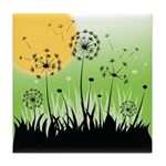 Fields of Dandelion Art Tile Drink Coaster
