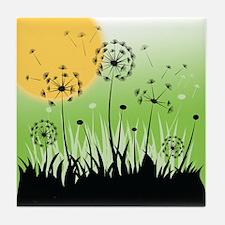 Fields of Dandelion Art Tile Drink Coaster