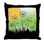 Fields of Dandelion Art Throw Pillow