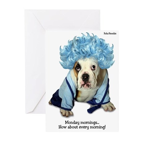 Monday Morning Bulldog Greeting Cards (Pk of 10)