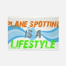 Plane Spotting is A Lifestyle Rectangle Magnet