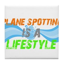 Plane Spotting is A Lifestyle Tile Coaster