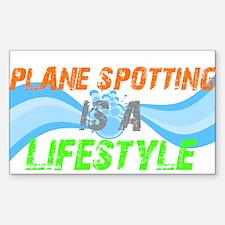 Plane Spotting is A Lifestyle Sticker (Rectangular