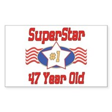 Superstar at 47 Rectangle Decal