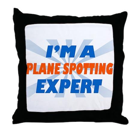 Plane spotting Expert Throw Pillow