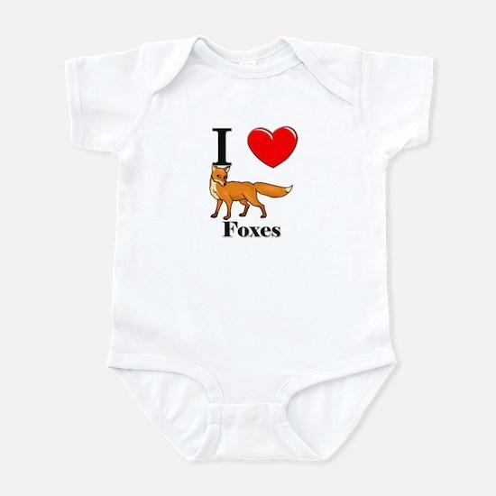 I Love Foxes Infant Bodysuit