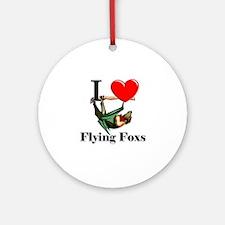 I Love Flying Foxs Ornament (Round)