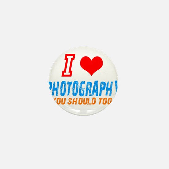 I love photograph Mini Button