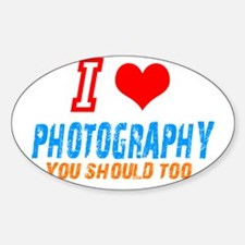 I love photograph Oval Decal