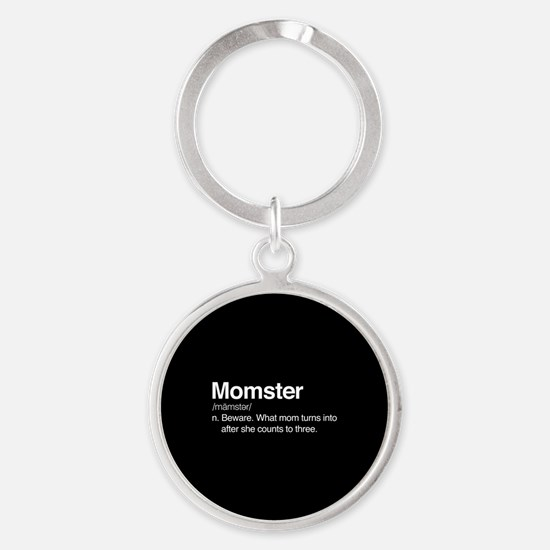 Momster Round Keychain